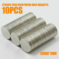 10Pcs N52 Magnets 10mm x 1mm Strong Thin Neodymium Disc Mini Rare-Earth Block