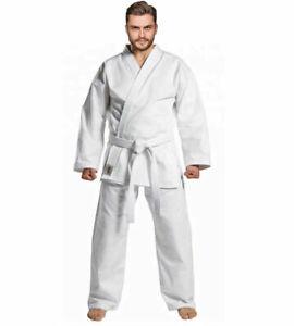 Karate Gi Suit Uniform For Kids Adults White  Boys Girls Mens New FREE BELT