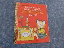 LITTLE GOLDEN BOOK - RICHARD SCARRY'S BEST LITTLE WORD BOOK EVER