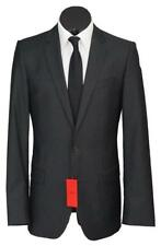 New Hugo Boss Amaro/Heise 2 Btn Wool Men`s Slim Fit Suit Solid Darkgray 38L