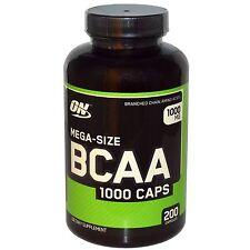 Optimum Nutrition, Mega-Size BCAA 1000 Caps, 1000 mg, 200 Capsules.