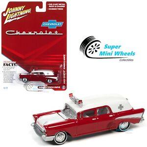 Johnny Lightning 1:64 - 1957 Chevy Ambulance (Red) - Diecast Model