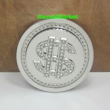 1 x mens ladies spinning belt buckle jeans money dollar sign rhinestone beads
