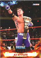 TNA AJ Styles #8 2013 Impact Wrestling LIVE GOLD Parallel Card SN 4 of 50