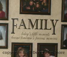 Family Todays Moment Precious Memory Wall Vinyl Sticker Decal Quote Saying Decor