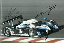 Jacques Villeneuve Marc Gene Minassian signed photo Le Mans Peugeot Autograph