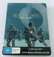 Rogue One A Star Wars Story Blu Ray 3-Discs Steelbook NEW** Region Free*** Rare*