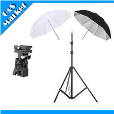 "speedlite umbrella lighting photography kit light stand+Bracket B+2x33"" umbrella"