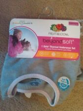 NWT GIRLS FOTL THERMAL UNDERWEAR SET GRAY TRIMMED IN PINK & WHITE SZ XS 4/5