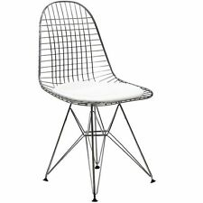 Modway Tower 34h Vinyl Dining Wire Side Chair White