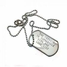 "Luke 1:37 Military Dog Tag,""For nothing is impossible with God"" with prayer card"