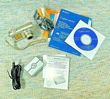 SONY DSC-S700 - Digital Camera 7.2MP & DYNEX SD Card Reader All Paperwork & CD's