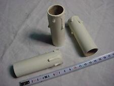 fausse bougie fourreau 24 mm x 85 mm gouttes blanc antique (réf L85) en carton