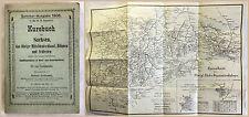 Fritzsche Kursbuch für Sachsen Sommer 1906 mit Eisenbahnkarte Fahrplan Fahrpläne