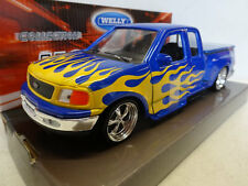 Welly: Ford F150 Regular Supercab Flareside PickUp 1998 with flames