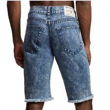 True Religion Men's Ricky Straight Stretch Denim Jean Shorts in Sapphire Bolt