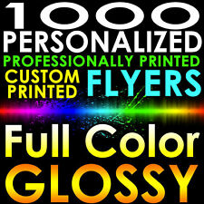 1000 CUSTOM PROFESSIONALLY PRINTED 8.5x11 PERSONALIZED FLYERS Full Color Gloss