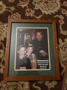Mohammad ali Rare framed pic,  Quaker steak and lube restaurant ! Framed print!