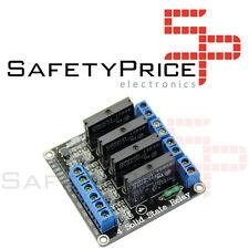 Modulo rele Estado Solido SSR 5v 4 canales G3MB-202P Con Fusible Para Arduino