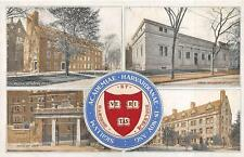 BOSTON MASSACHUSETTS HARVARD UNIVERSITY MULTI-VIEW POSTCARD 1907 *****