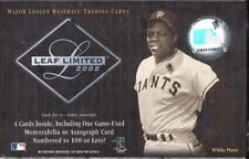 2005 Leaf Limited MLB Baseball Hobby Box