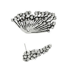 1Pc Punk Boho Earrings For Women Front Back Clip Fan Style Big Earring Femal 2U2