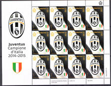 2015 San Marino Juventus Campione d'Italia 2014-2015 Minifoglio 12 v MNH**