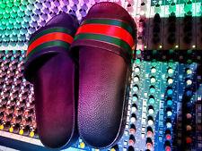 Gucci Black/Red/Green Slides/Sliders/Flip Flops/Sandals Size 8/9 Used Once