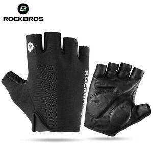 ROCKBROS Cycling Non-slip Fingerless Gloves Sports Bike Summer Shockproof Gloves