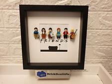 Friends TV 3D minifigure Frame Rachel, Ross, Monica, Phoebe, Chandler, Joey