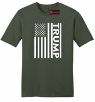 Trump American Flag Mens Soft T Shirt Patriotic USA President Political Tee Z2