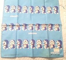 "Doraemon Handkerchief, Hanky, Hankie 11.5"" 100% cotton Ray Rohr Cosmic Artifact"
