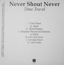 NEVER SHOUT NEVER - TIME TRAVEL - CD, 2011 - PROMO
