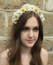 Ivory White Wildflower Rose Daisy Flower Hair Crown Headband Headpiece Boho Z84
