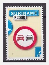 Surinam / Suriname 2000 Trafficsign 3 roadsign verkehrsschild MNH
