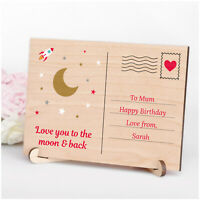 Love You to the Moon and Back Mum Mummy Nanny Nanna PERSONALISED Birthday Gifts