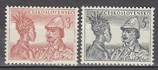 CZECHOSLOVAKIA 1952 **MNH SC# 499 - 500  Death of Emil Holub - Explorer