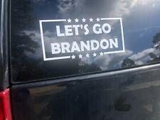 Let's Go Brandon Die Cut Decal -  Laptop Computer Truck Car Bumper Home Sticker