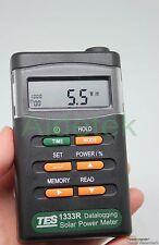 TES-1333R Solar Power Meter Digital Radiation Detector Energy Tester datalogging