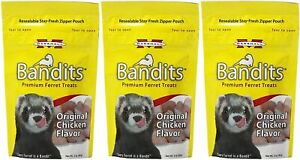 Marshall Bandits Premium Original Chicken Flavor Ferret Treats 3 oz. 3-Pack