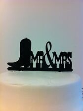 Western Boot MR & MRS Wedding Cake Topper MADE In USA…..Ships from USA