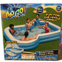 Bestway H2OGO! ~10 Ft SUNSATIONAL FAMILY POOL MOSIAC PRINT 2 CUP HOLDERS