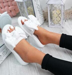Women Sandals Slippers Shoes Bows Flat Sliders Fashion Summer Beach  slipper