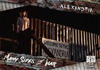 Walking Dead Season 8 Part 1 MANY SIDES OF WAR Insert Card MSW-2 / ALEXANDRIA