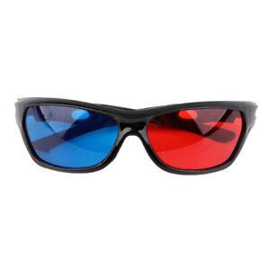 Schwarz Rahmen Rot Blau 3D Brille Für Anaglyph Movie Game DVD