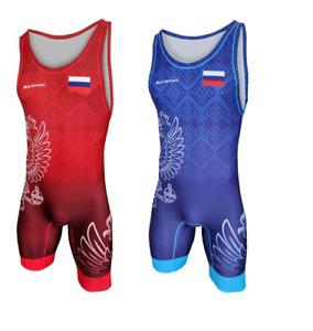 Tuta da wrestling BERKNER Russia   Wrestling Suit Trikot Singlet Ringertrikot