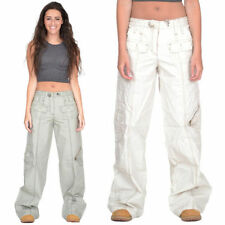 Wide Leg Cotton Cargos Unbranded Trousers for Women
