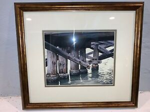 "ERNEST C. SIMMONS WINDLESS WATERS ART - Signed !! 13"" x 15""  e348"