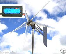 "KT Ghost 74"" roller 5 Blade Wind turbine 24 VAC 3-phase 14 mag  6.3 kWh  W/METER"