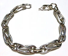 "UNISEX 8.25"" MEXICO MEXICAN CLASSY UNIQUE LINK STERLING SILVER CHAIN BRACELET"
